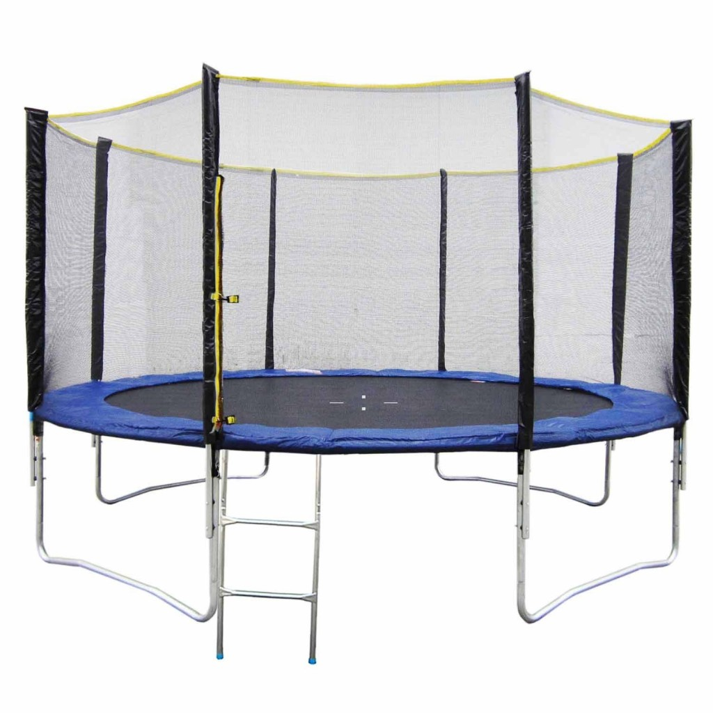 notre test du trampoline 430cm de happy garden. Black Bedroom Furniture Sets. Home Design Ideas